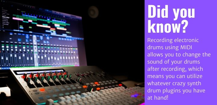 recording electronic drums MIDI